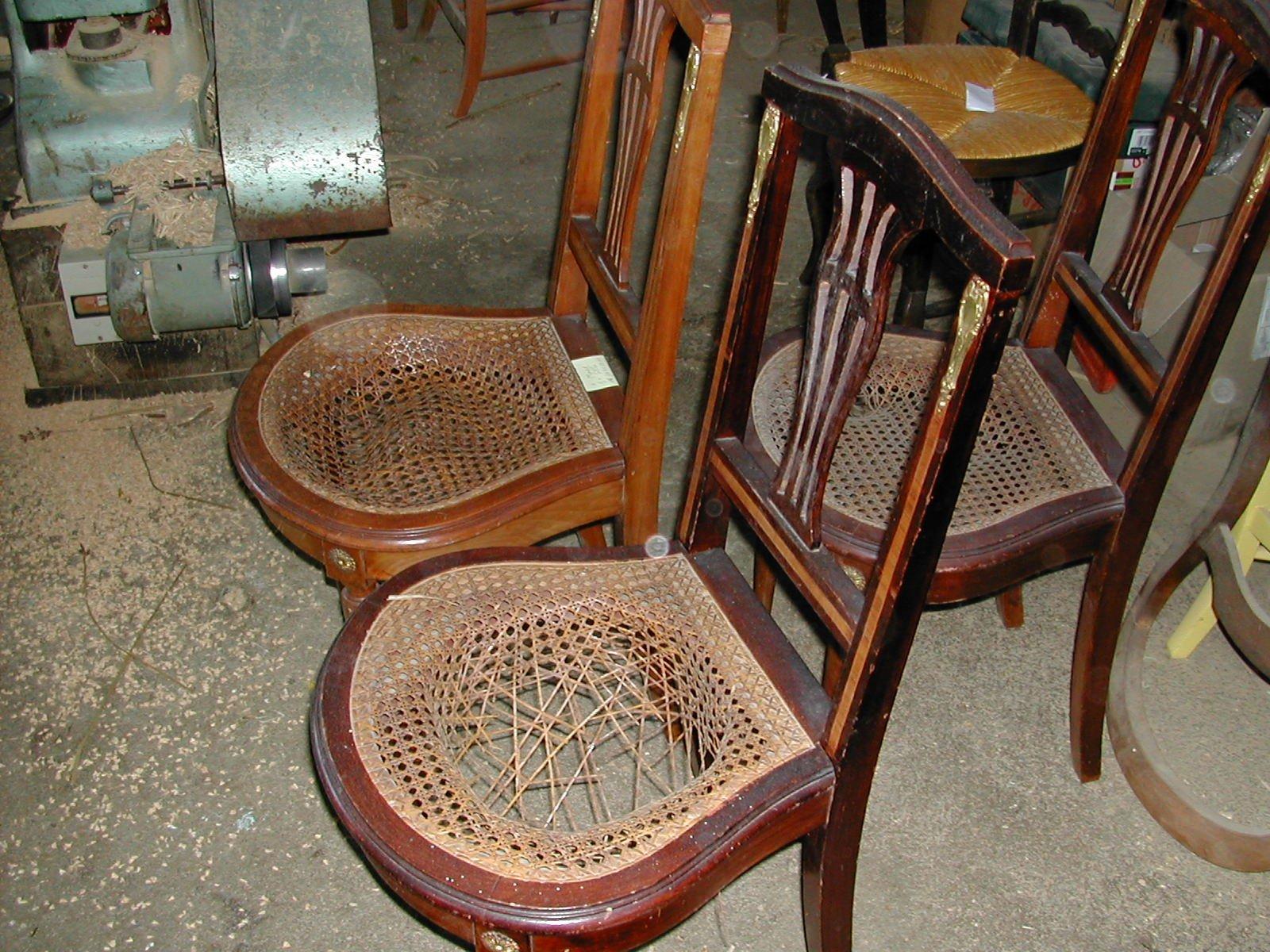 Chauch patrimoine for Cannage de chaise technique